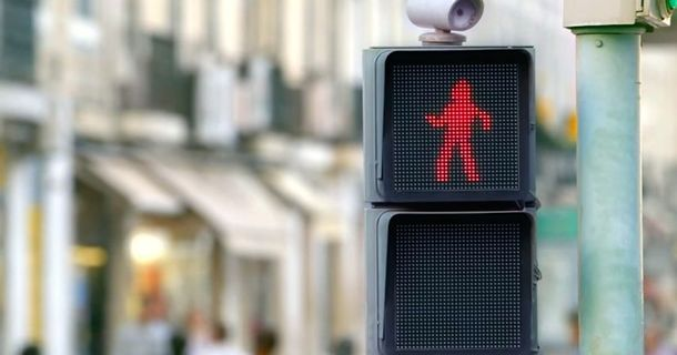 Some Tired Pedestrians Are About To Get A Shot Of Happiness Just By Waiting For A Light